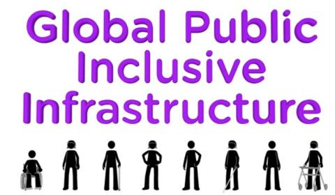 Picture of people and words Global Public Inclusive Infrastructure
